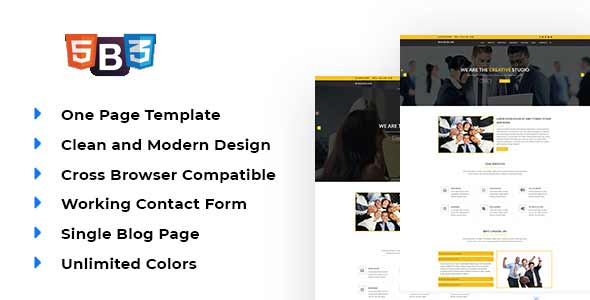 BusinessLink - Material Design Business Template