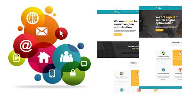 SEO TRAFFICE - Material Design Business Template